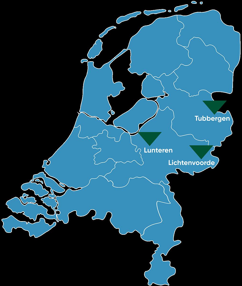 Kaart_Nederland_Lunteren_Transparant